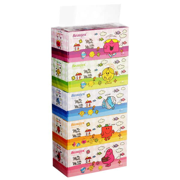 Beautex-Mr.Men-Little-Miss-Box-Tissue-3ply-x-5-x-100s