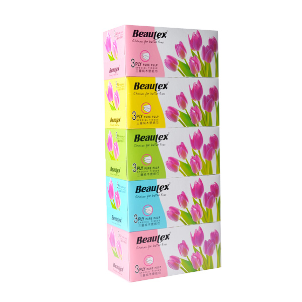 Beautex-box-tissue-3ply-x-5-x-120s